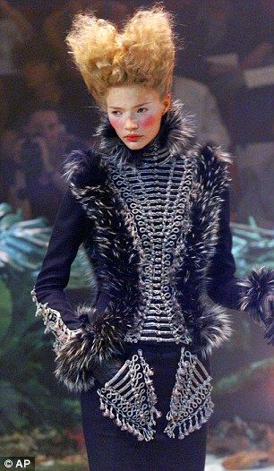 Alexander McQueen 1998 collection was a nod to 17th Century fashion in Marie Antoinette-style designs