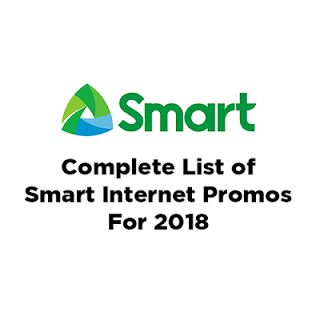 Complete List of Smart Internet Promos (2018)