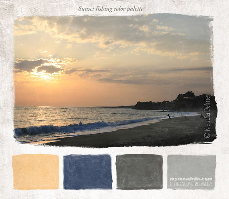 Sunset fishing color pallette | My Messinia
