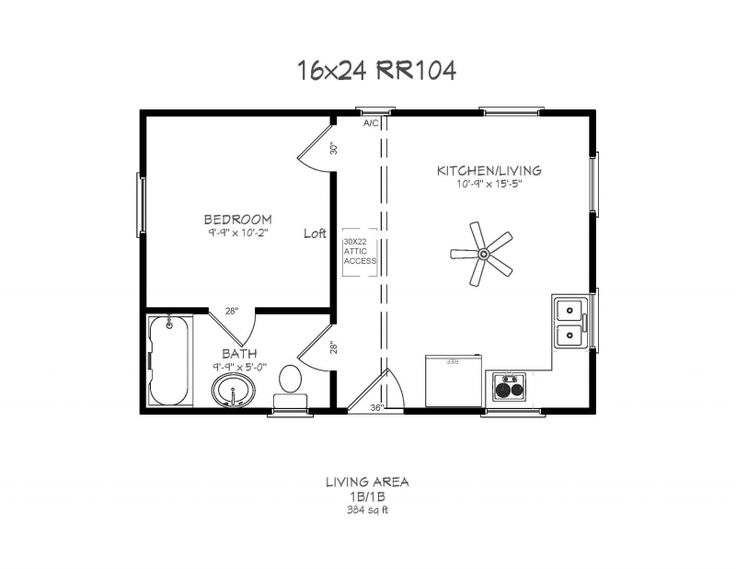 14 X 40 Floor Plans With Loft Pull Down Stairs