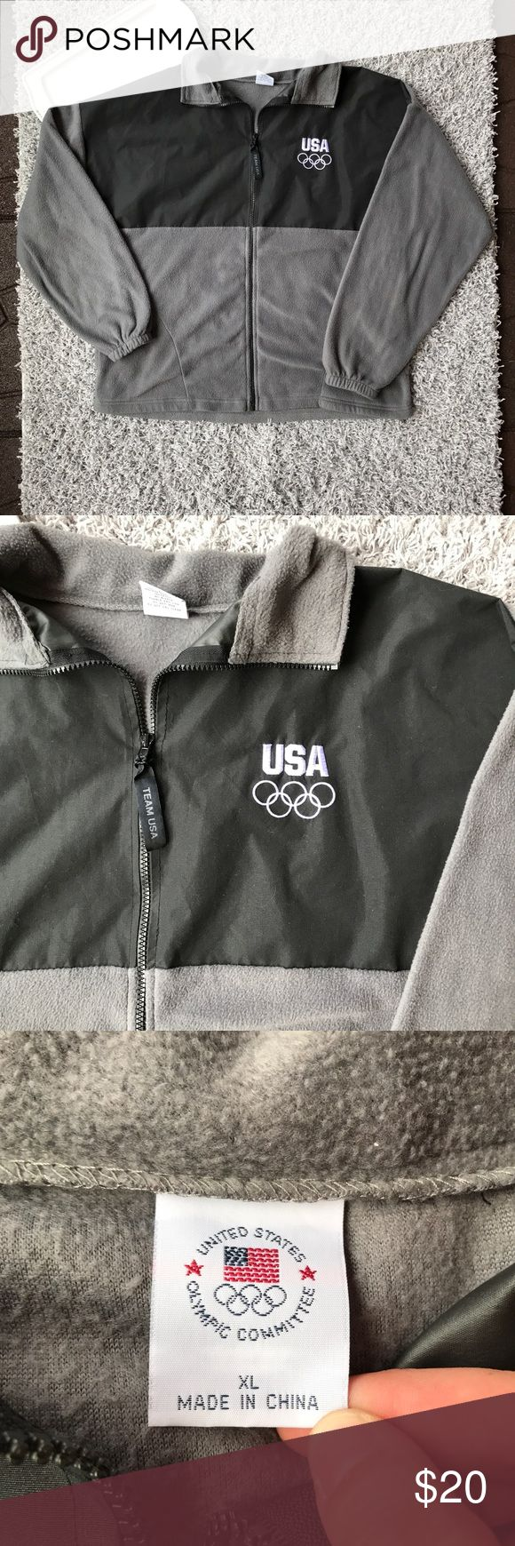 US Olympics committee extra large fleece jacket This fleece jacket is in excellent condition and has no flaws. It is a size extra large and measurements are shown in pictures. Feel free to bundle and save! United States Olympics committee Jackets & Coats Performance Jackets