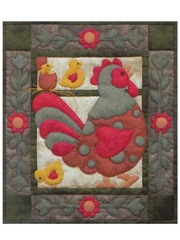 ~ Spotty Rooster Wall Quilt Kit