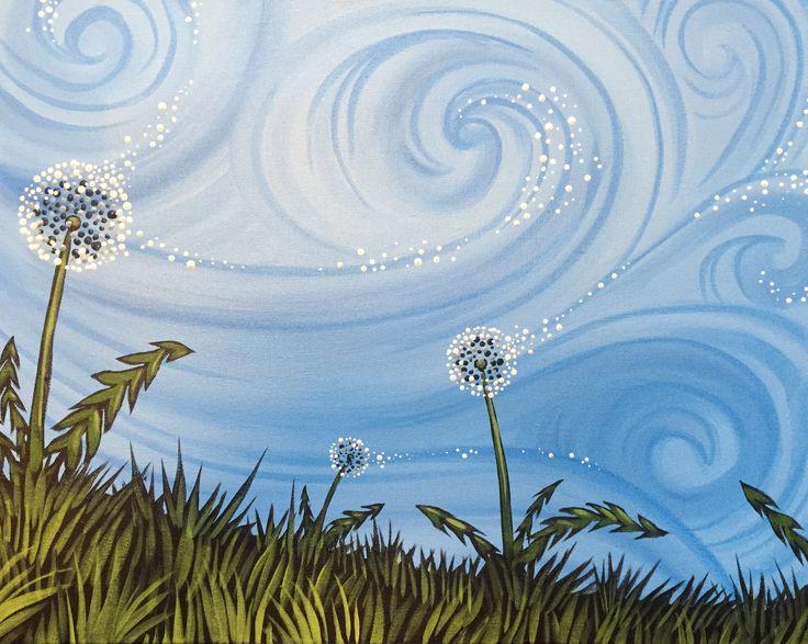 Dandelion Drift from Muse Paintbar