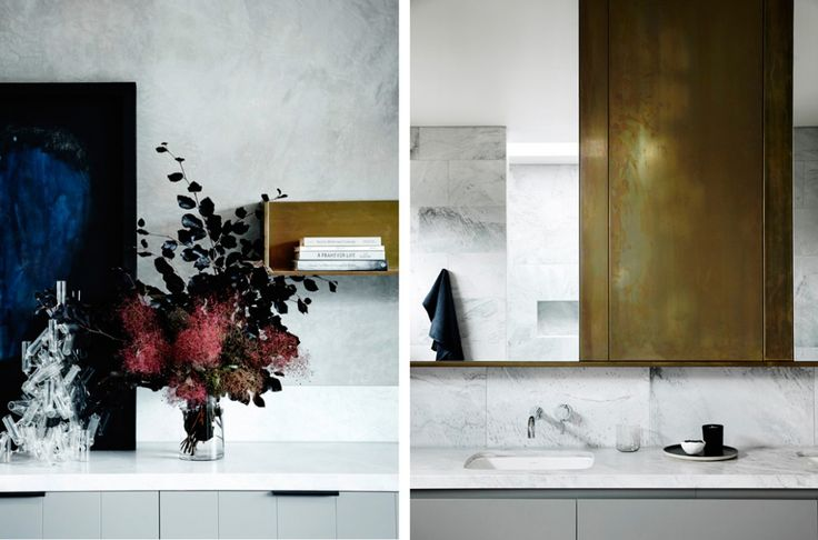 Mässing, sten och stilren lyx i badrum | Badrumsdrömmar