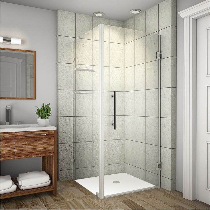 Aston Aquadica GS 32-in x 32-in x 72-in Frameless Square Shower Enclosure w. Shelves in