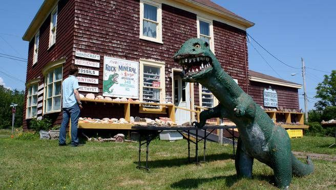 Pop into the Parrsboro Rock and Mineral Shop and Museum to explore the fossils, gems, rocks and minerals for which this shore is famous. (FRANCES WILLICK)