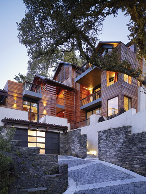 The Hillside House. LEED Platinum-certified masterpiece in Northern  California