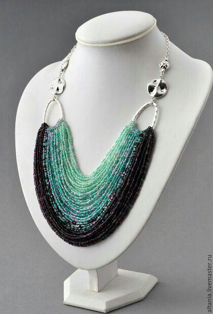 Necklace #seedbeads #beading #lbloggers #cbloggers Gör det själv smycken Pinterest Gör det