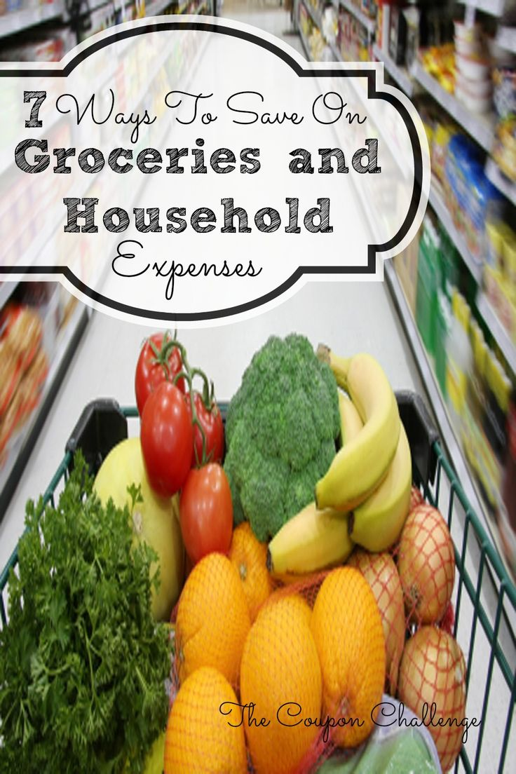 Here are 7 of the most common ways to save money on groceries & household expenses.