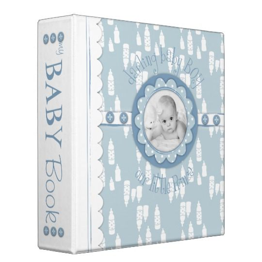 Bottle and Pacifier Baby Memory Book 3 Ring Binder for a boy #memorybook #scrapbook #babybobys AFFILIATE LINK