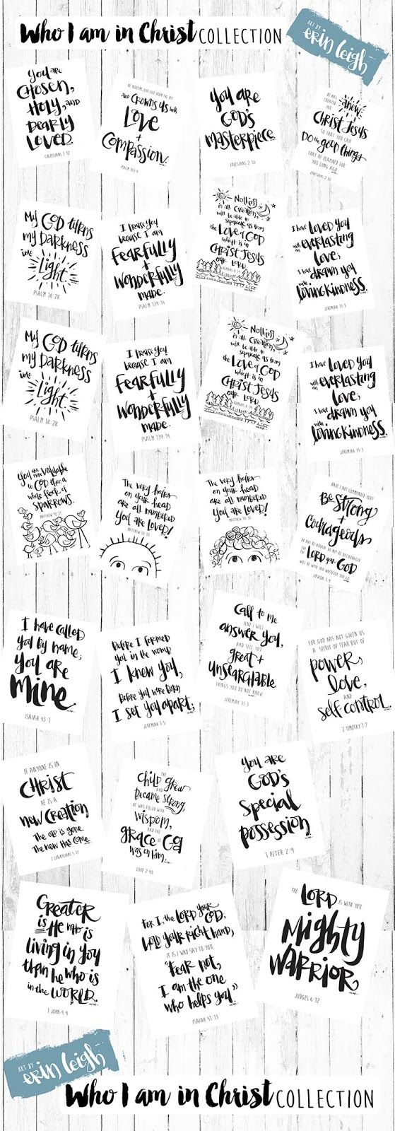 Introducing the                  I'm so happy to finally share my new {Who I Am In Christ} collection  with you.   I've had this idea in...