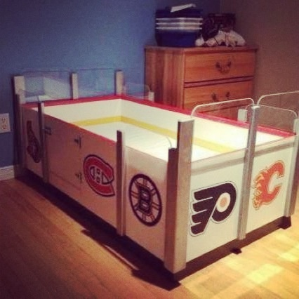 17 best images about all things hockey on pinterest for Kids hockey room
