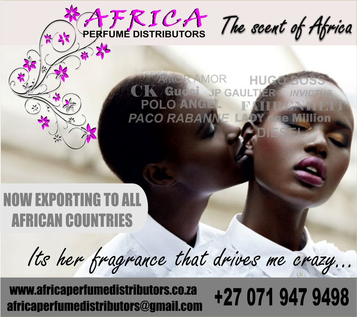 Superior quality oil based perfumes available for export throughout Africa. www.africaperfumedistributors.co.za