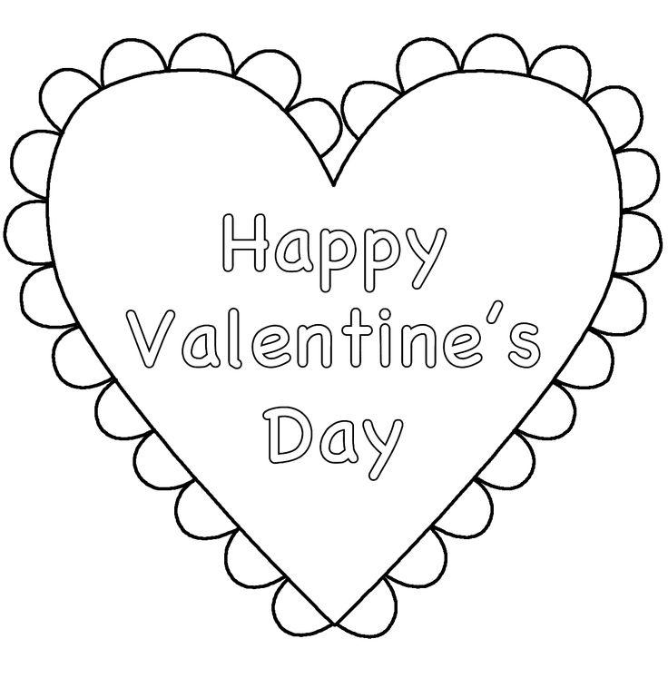 43 best Valentine\'s Day images on Pinterest | Colorear, Páginas para ...