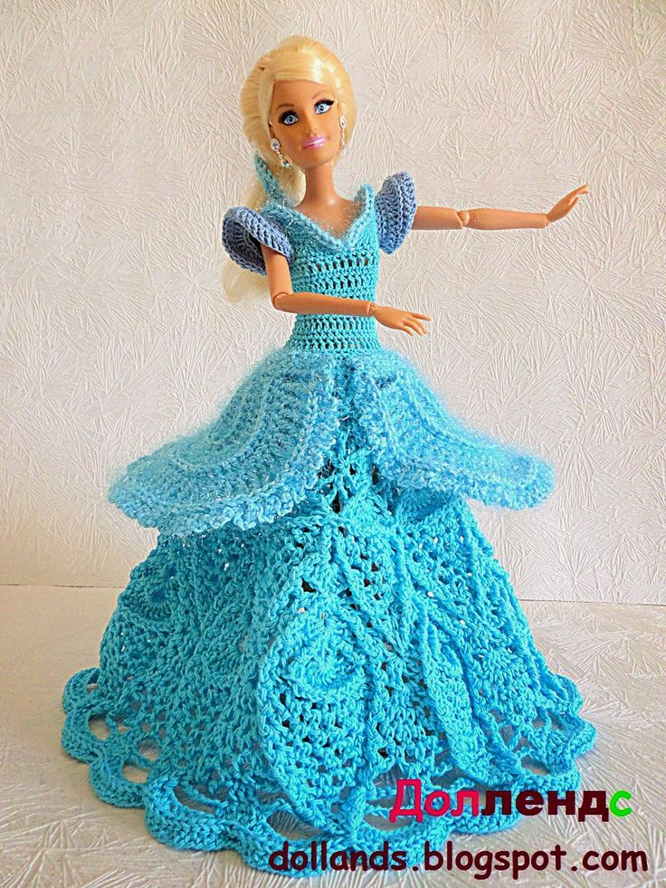 Наряды для кукол барби Золушка. Наряд разных оттенков голубого, как платье для…