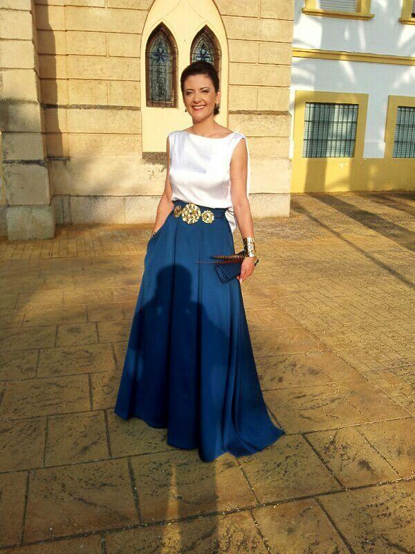 faldas largas de chifon para boda - Buscar con Google