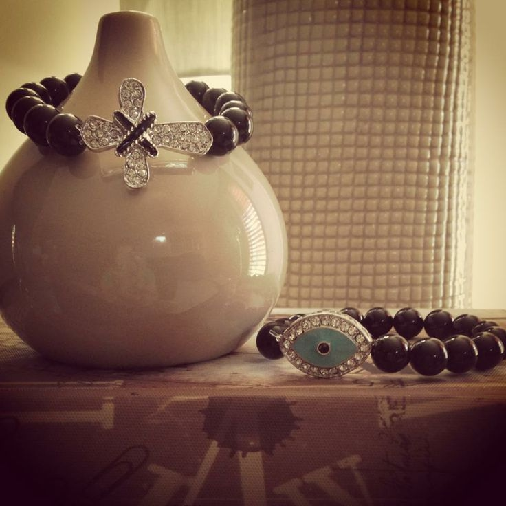 Black Bead Silver Cross Bracelet sent to Queensland, Australia
