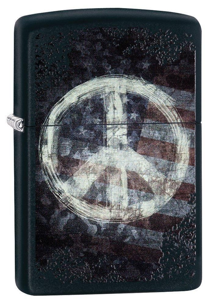 Zippo USA Flag Lighter Peace America Pocket Dad Father Gift 4th Memorial NEW  #Zippo