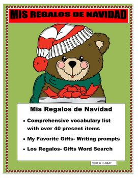 #ChristmassantaThis wonderful interactive lesson plan will allow you to have a fun  activity before  the Christmas break in Spanish. Students spend December thinking about their presents for Christmas Chanukah or Kwanzaa. This is a great opportunity for them to do a presentation for the class of their Christmas wish list.