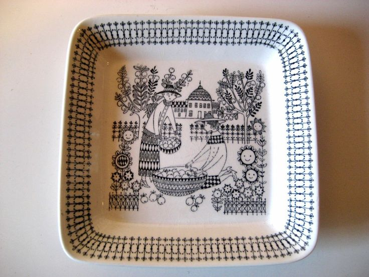 Square plate - Gardening