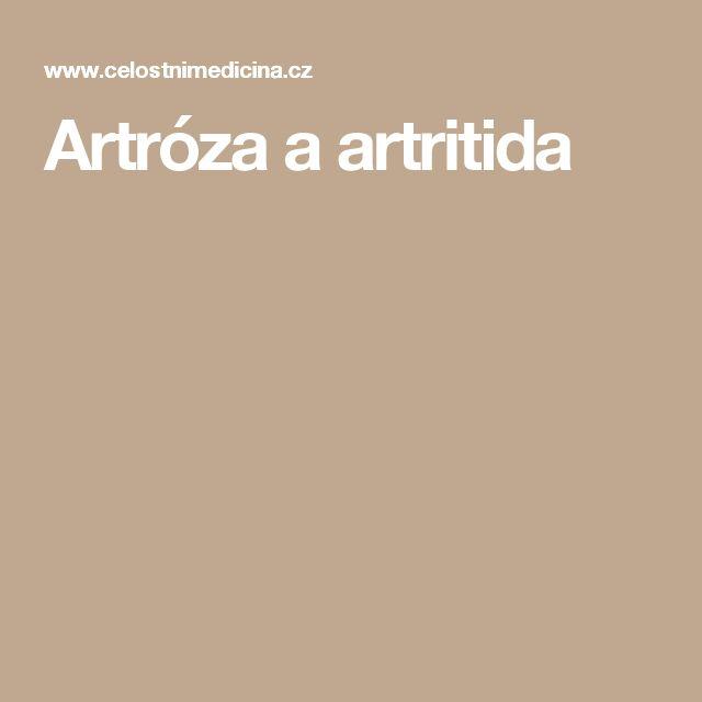 Artróza a artritida