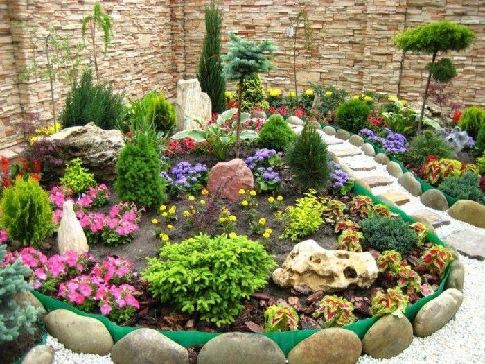 1001 ideen zum thema blumenbeet mit steinen dekorieren best garten ideen steingarten. Black Bedroom Furniture Sets. Home Design Ideas