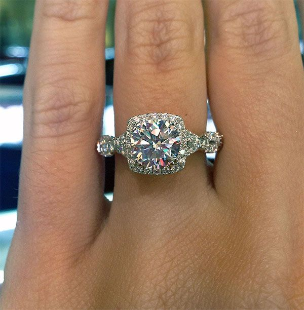 Square Halo Engagement Rings Eye Candy Halo Lace And