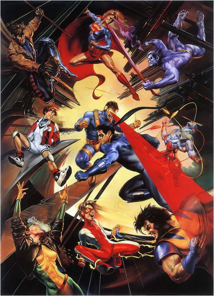 Marvel versus DC by Julie Bell