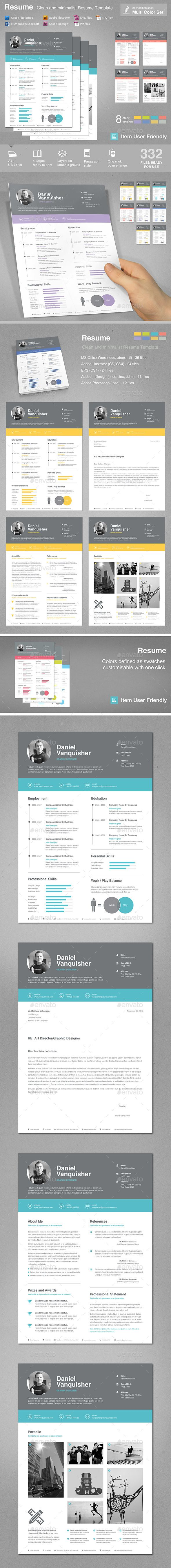 Resume  #clean #curriculum vitae #cv • Available here → http://graphicriver.net/item/resume/11042365?s_rank=22&ref=pxcr