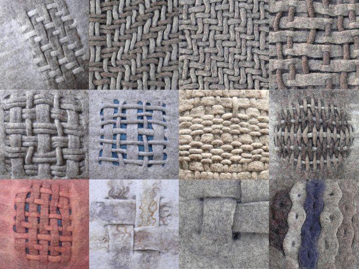 Woven felt pillows and structures 2005 - 2008 Hand felted by Vanda Robert
