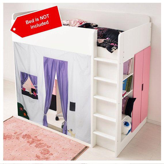 Letto a castello Playhouse / letto tenda / tenda a letto - libero progettazione e personalizzazione di colori di Loft