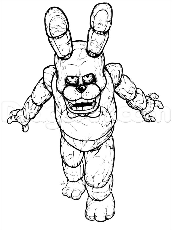 How to Draw Bonnie the Bunny, Five Nights at Freddys, Step ...