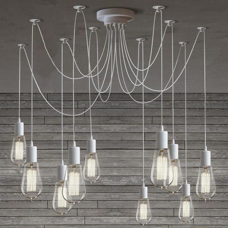 10 Light Diy Mason Jar Chandelier Rustic Cedar Rustic Wood: Best 25+ Edison Lighting Ideas On Pinterest