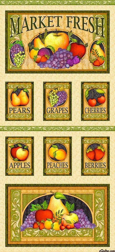 "Fruit Basket - Fruit Stand - Sand - 24"" x 44"" PANEL"