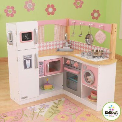 Corner kitchen for kids http://easelsforkids.com/kidkraft-corner-kitchen/