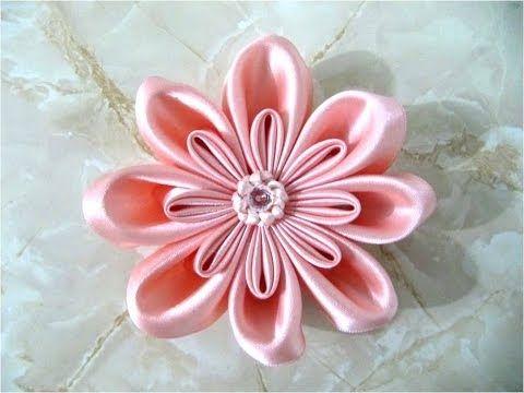 moos flor doble ptalos rellenos en cintas para el cabello youtube