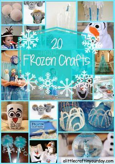 #Frozen fans will love this! - 20 FROZEN crafts - A Little Craft in Your Day #kids #crafts
