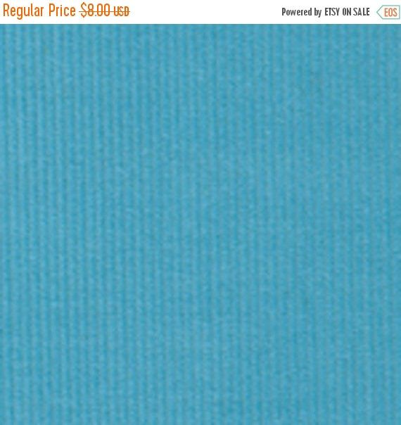 ON SALE - 10% Off Fabric Finders Turquoise Blue Fine Wale Corduroy Apparel Clothing Fabric By The Yard