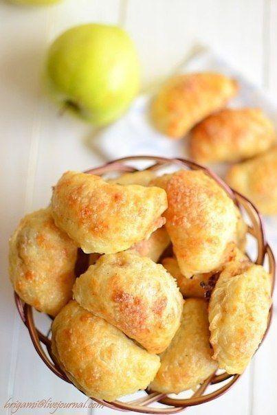 Сырные пирожки с яблочной начинкой. Вот вспомнила и оживила старый рецепт пирожков, которые люблю на ...