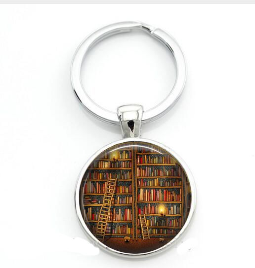Library Book Case Keychain, Vintage Style Gift for Students Teachers, Librarians keychain ,Old Books Keychain