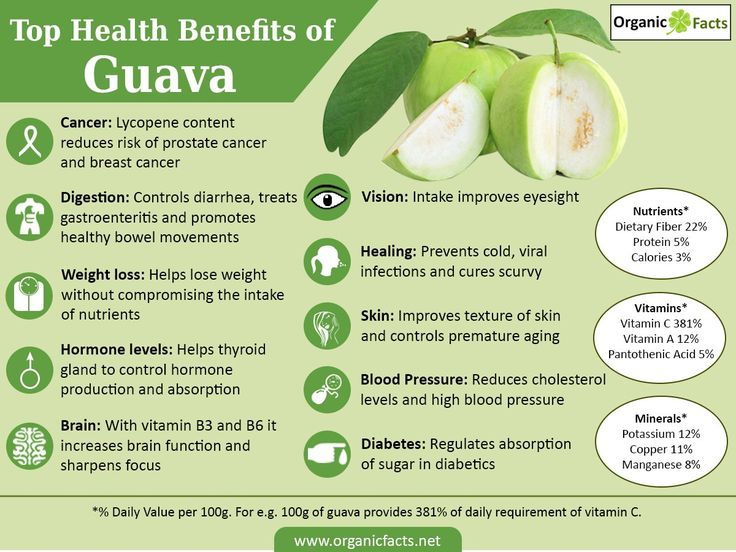 The health benefits of guava include treatment of diarrhea, dysentery, constipation, cough, cold, skin care, high blood pressure, weight loss and scurvy. Many of you might have tasted this mouth-watering treat, or at least have seen it or heard about it. It is a good looking pear shaped or round shaped seasonal fruit, light green or yellow or maroon in color from outside when ripe, with white or maroon flesh and lots of small hard seeds enveloping very soft and sweet pulp.