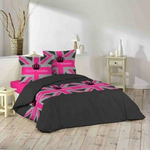 Housse de couette London Girly 220x240cm en coton