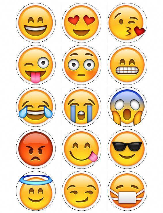 Emoji cupcake topper Emoji Birthday Party toppers Emoji topper printables Emoji cupcake Toppers Instant Download.
