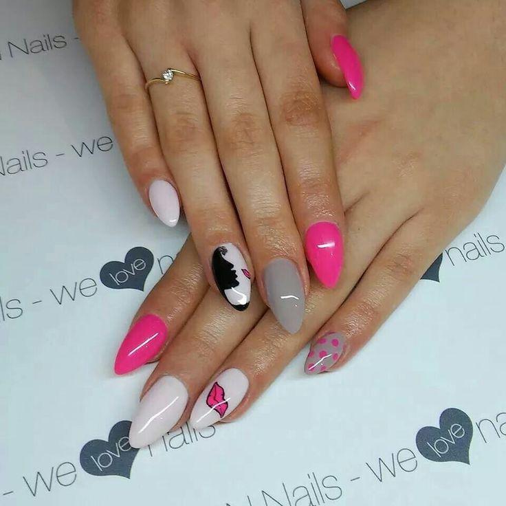 SPN UV LaQ 503 Black Tulip, 511 Nude, 561 Night in Miami, 585 Lilac Longing  Nails by Alicja Koziołek, AliceNails