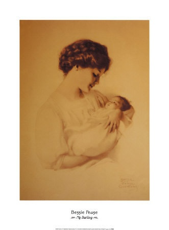 "Bessie Pease Gutmann ""My Darling"" 1910"