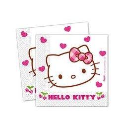Guardanapos Do Tema Hello Kitty Hearts / Hello Kitty Hearts Paper Napkins