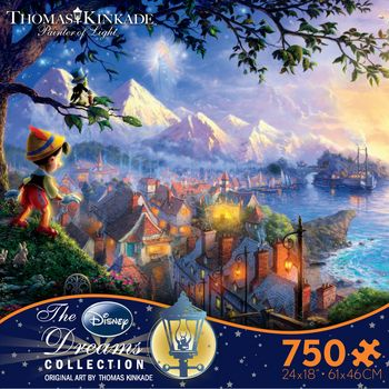 Thomas Kinkade Disney Dreams - Pinocchio Wishes Upon a Star picture