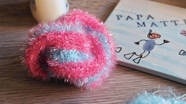 Spülschwamm aus Creative Bubble Garn selbst gestrickt