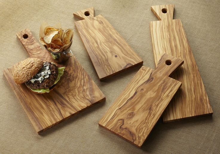The Earthy Look Of These Olive Wood Serving Boards Is