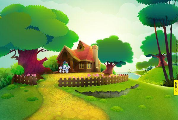 2D animation BG by seerow .com, via Behance